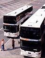 Trathens N315BYA N318BYA, Bretonside bus station, Plymouth, 2001.jpg