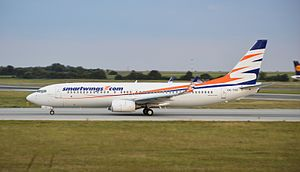 Travel Service (airline) - Travel Service Boeing 737-800 in SmartWings livery.