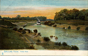 Trinity River (Texas) - Trinity River, Dallas, Texas (postcard, c. 1901–1907)