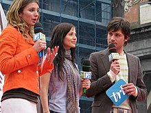 Natalie Imbruglia, ospite di TRL a Napoli (25 aprile 2005)