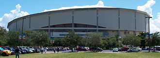 Tropicana Field - Tropicana Field has a unique slanted roof