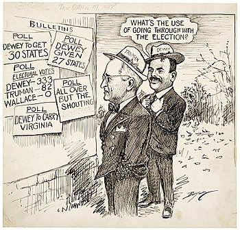 Clifford K Berryman S Editorial Cartoon Of Oct 19 1948 Shows The Consensus Of Experts In Mid October