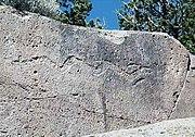 Tsirege Petroglyph depicting Awanyu