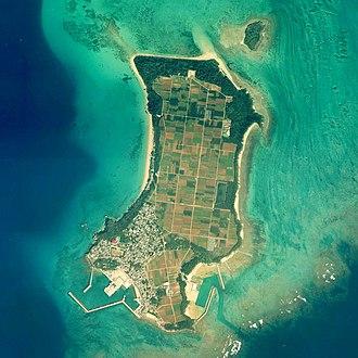 Tsuken Island - Aerial view of Tsuken Island