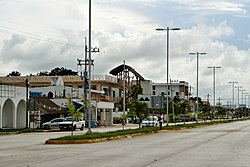 The town of Tulum along Highway 307