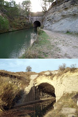 Malpas Tunnel - The Malpas tunnel on the Canal du Midi