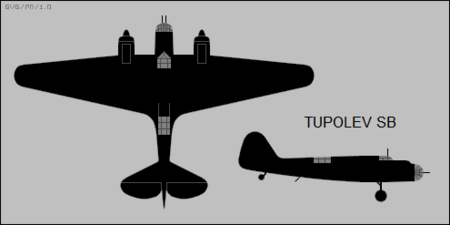 Tupolev SB two-view silhouette.png