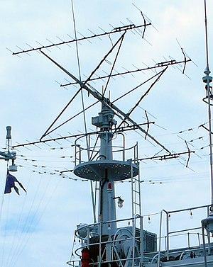 Type 517 Radar - Side view of Type 517 radar deployed on Type 053H3 Frigate taken during IMDEX 2007