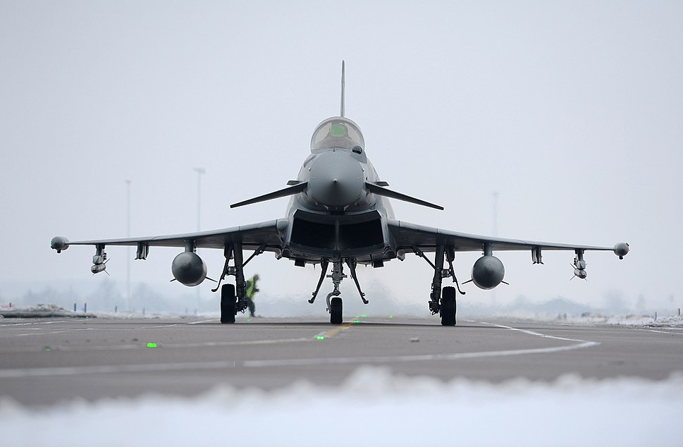 Typhoon Landing At RAF Coningsby MOD 45155053