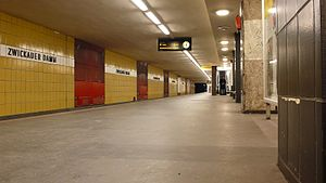 Zwickauer Damm (Berlin U-Bahn) - Platform of the station