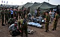 U.S. Army and Israeli Defense Forces medics care for mock victims during an emergency response exercise as part of Austere Challenge 2012 in Beit Ezra, Israel 121022-F-QW942-091.jpg