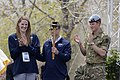 U.S. Olympic swimmer Missy Franklin, left, Paralympian gold medal winner Navy Lt. Bradley Snyder, center, and Prince Harry prepare to light the official torch to begin the 2013 Warrior Games at the U.S. Olympic T 130511-D-DB155-004.jpg