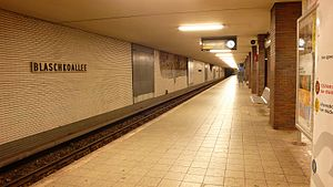 Blaschkoallee (Berlin U-Bahn) - Platform view