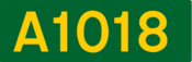 A1018 road shield