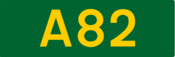 A82 road shield