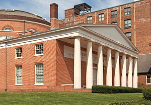 University of Maryland, Baltimore - University of Maryland at Baltimore's historic Davidge Hall (1812) of the University of Maryland School of Medicine, at the northeast corner of South Greene and West Lombard Streets