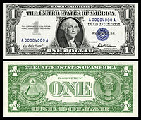 $1 Silver Certificate, Series 1957, Fr.1619, depicting George Washington