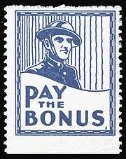 USA-Cinderella-Stamp-1932 Pay the Bonus