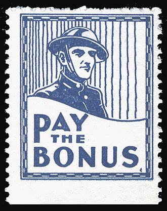 Bonus Army - Cinderella stamp (USA, 1932) supporting the Bonus Army