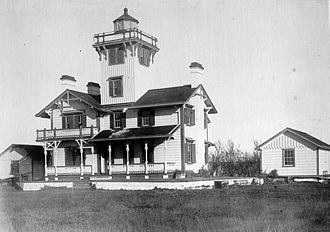 Point Hueneme Light - Original 1874 Lighthouse by Paul J. Pelz, USCG photo
