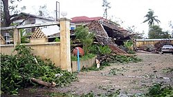 One of many houses destroyed during Cyclone Nargis