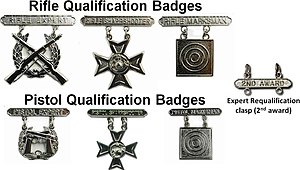 Badges of the United States Marine Corps - U.S. Marine Corps marksmanship qualification badges