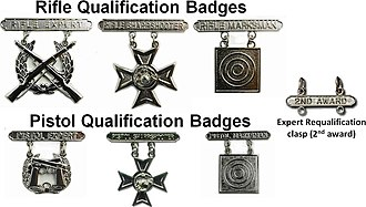Marksmanship badges (United States) - U.S. Marine Corps Marksmanship Qualification Badges