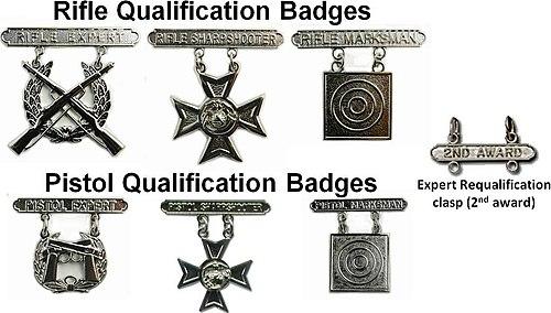 Marksmanship Badges (United States) - Wikipedia, the free ...