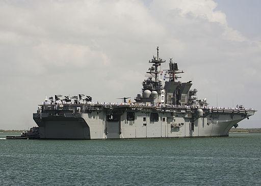 USS America (LHA-6) at Guantanamo Bay in July 2014