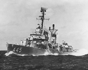 USS Fletcher (DD-445) underway at sea, circa the 1960s (NH 68912).jpg