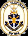 USS Fletcher (DD-992) crest.png
