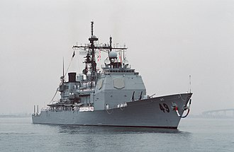 USS Vincennes (CG-49) - Image: USS Vincennes returns to San Diego Oct 1988