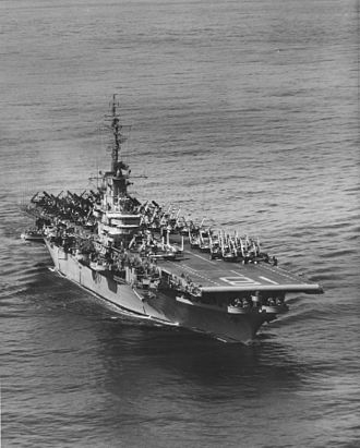USS Wasp (CV-18) - Wasp during her 1954 WESTPAC deployment, following her SCB-27 conversion