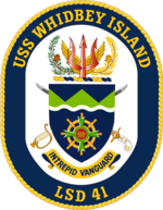 USS Whidbey Island LSD-41 Crest.png