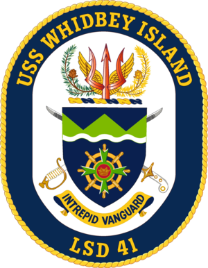 USS Whidbey Island (LSD-41) - Image: USS Whidbey Island LSD 41 Crest