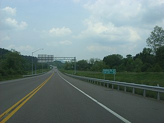 U.S. Route 220 in Maryland - US 220 northbound past the split from I-68/US 40 in Cumberland