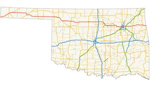 U.S. Route 412 in Oklahoma - Image: US 412 (Oklahoma) map