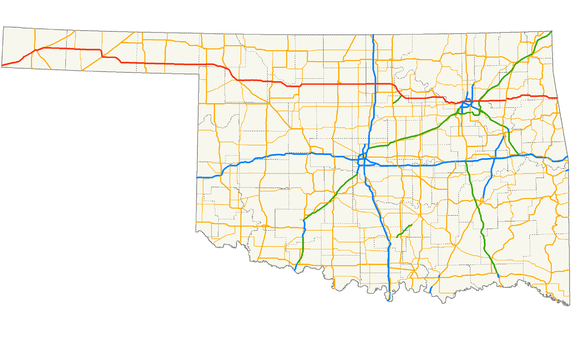 US Route In Oklahoma Wikiwand - Oklahoma in us map