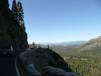 U.S. Route 50 in California - Descending eastbound into the Lake Tahoe Basin