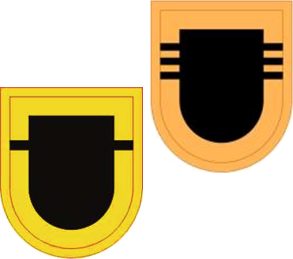 US Army 509th Inf Reg Flashes