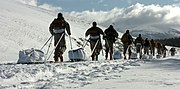 US Army Special Forces soldiers conduct cold weather training in Gunnison National Forest