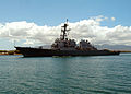 US Navy 050509-N-6775N-022 The guided missile destroyer USS Paul Hamilton (DDG 60) passes Hospital Point at Pearl Harbor.jpg
