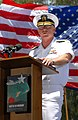 US Navy 070604-N-4965F-018 Commander, U.S. Pacific Fleet, Adm. Robert F. Willard, delivers his remarks during the 65th anniversary of the Battle of Midway commemoration ceremony on Midway Atoll.jpg