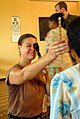 US Navy 081111-N-3595W-170 Lt. Megan Rieman gives eye exams to patients at Kumaka District Hospital.jpg