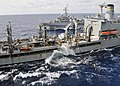 US Navy 101018-N-9950J-283 The Military Sealift Command fleet replenishment oiler USNS Pecos (T-AO 197) conducts an underway replenishment with the.jpg