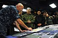 US Navy 110331-N-SB673-105 Rear Adm. Robert Girrier explains operations supporting earthquake and tsunami relief efforts to Lt. Gen. Eiji Kimizuka.jpg