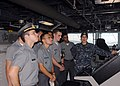 US Navy 110429-N-ZI300-012 Ensign Ashley Sanford gives Brazilian Naval Academy cadets a tour aboard USS Nitze (DDG 94).jpg