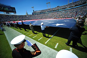 EverBank Field - EverBank Field during the 10th anniversary of 9/11