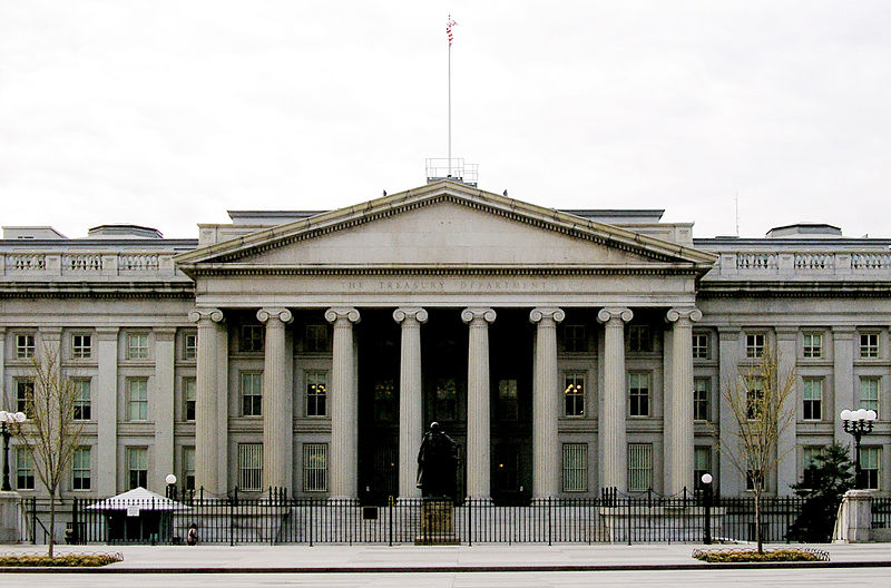 91 corporations in the Fortune 500 paid no federal taxes last year The U.S. Treasury building
