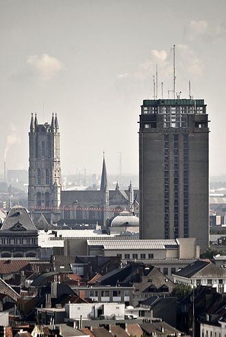 Henry van de Velde - Ghent, Belgium: Boekentoren of Ghent University (to the right.)